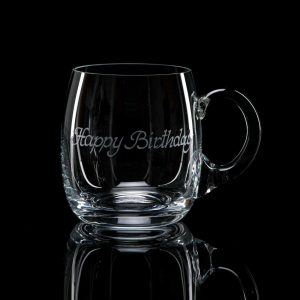 Crystal Beer Tankard – Happy Birthday