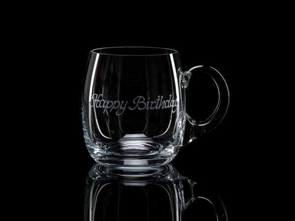 Crystal Beer Tankard - Happy Birthday