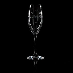 Crystal Champagne Flute – My Valentine