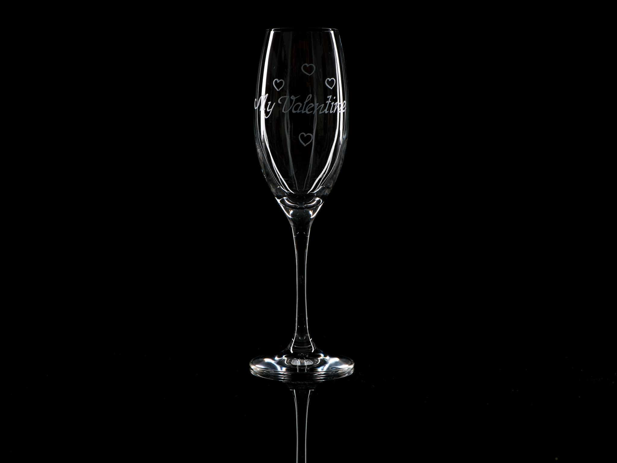 Crystal Champagne Flute - My Valentine