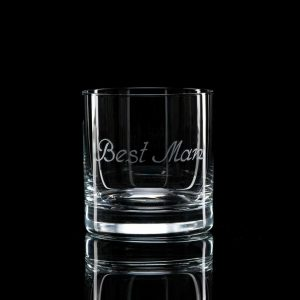 Crystal Whisky Tumbler – Best Man