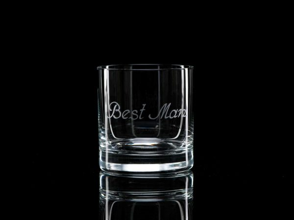 Crystal Whisky Tumbler - Best Man