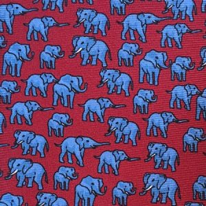 Tusk Elephant Silk Tie – Red