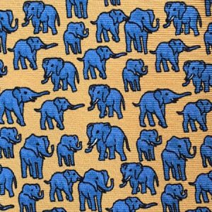 Tusk Elephant Silk Tie – Yellow