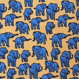 Tusk Elephant Silk Tie – Yellow