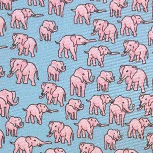 Tusk Elephant Silk Tie – Pale Blue