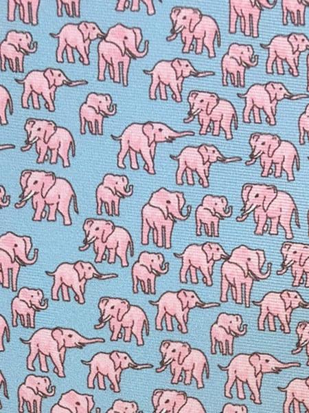 Pale Blue Elephant Tie