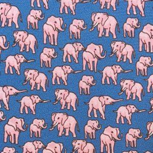 Tusk Elephant Silk Tie – Blue