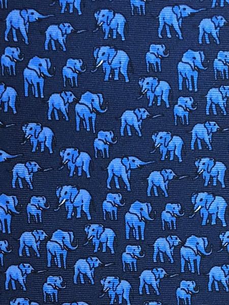Elephant Silk Tie Navy