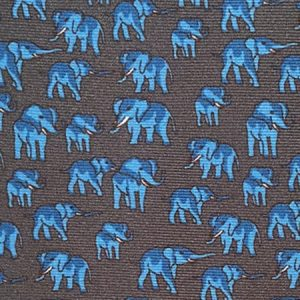 Tusk Elephant Silk Tie – Dark Grey