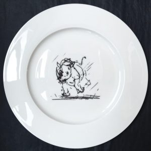 Bone China Dinner Plate – Rhino