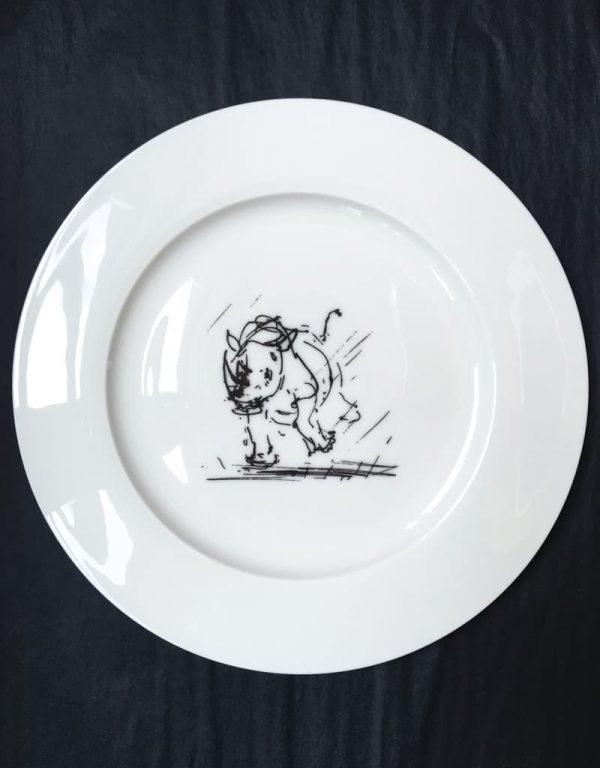 Bone China Dinner Plate - Rhino