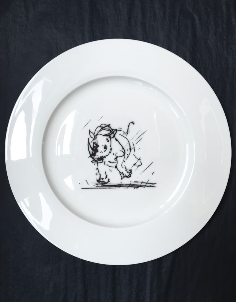 Bone China Dinner Plate Rhino Homeware Tim Best