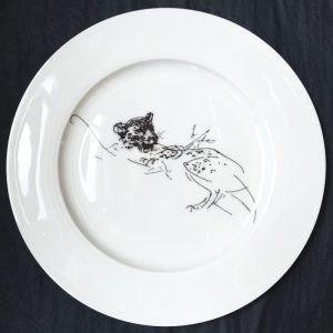 Bone China Dinner Plate – Leopard