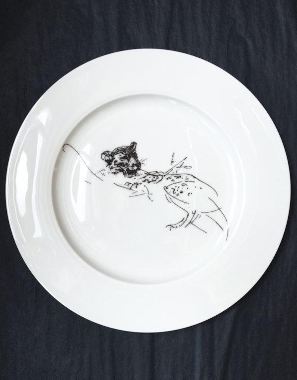 Bone China Dinner Plate - Leopard