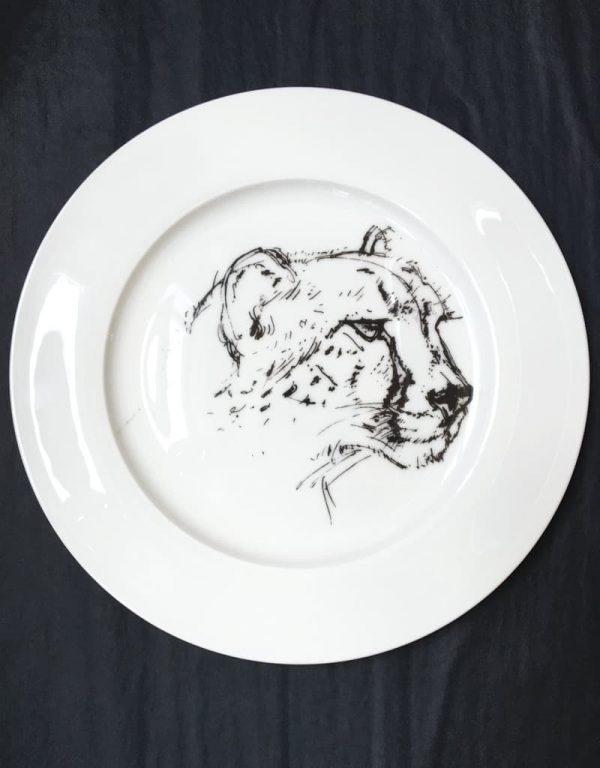 Bone China Dinner Plate - Cheetah