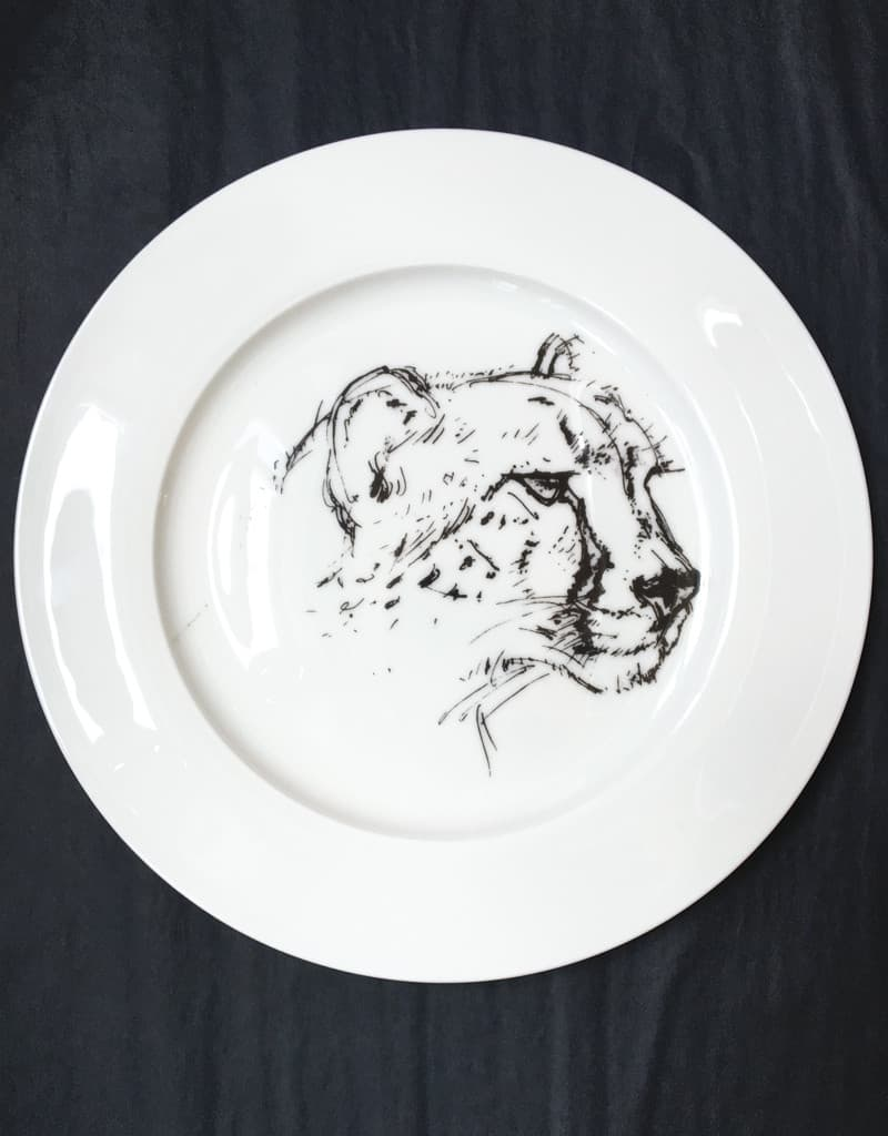 Bone China Dinner Plate - Cheetah