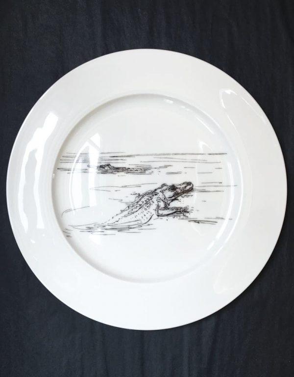 Bone China Dinner Plate - Croc