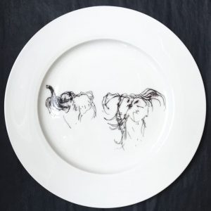 Bone China Dinner Plate – Elephant