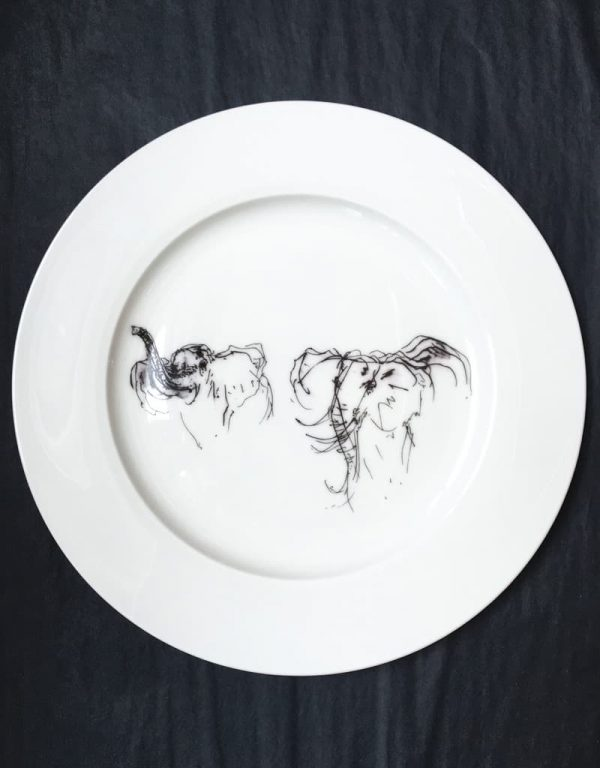 Bone China Dinner Plate u2013 Elephant : china dinner plate - Pezcame.Com