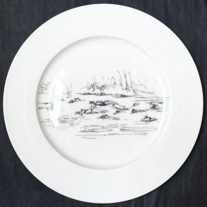 Bone China Dinner Plate – Hippo