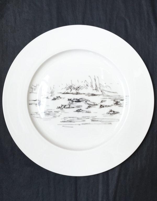 Bone China Dinner Plate - Hippo