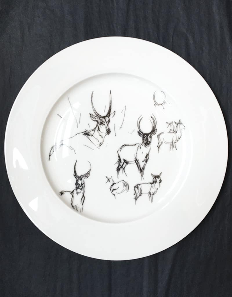 Bone China Dinner Plate - Waterbuck.