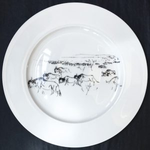 Bone China Dinner Plate – Wildebeest