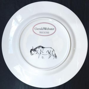 Bone China Dinner Plate - Wildebeest