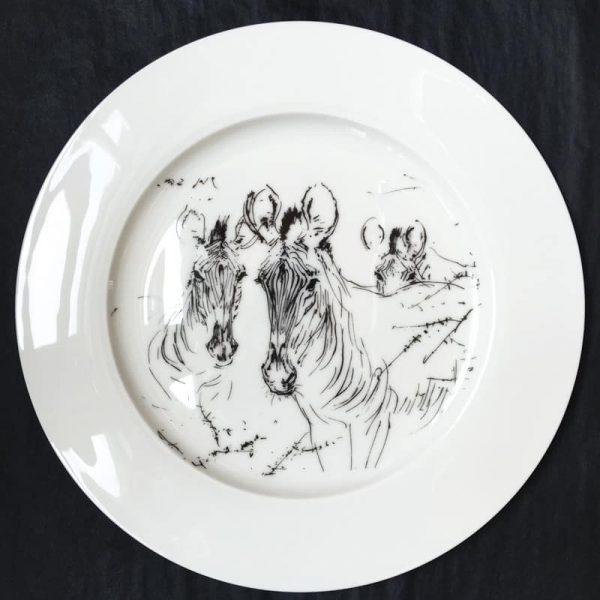 Bone China Dinner Plate – Zebra