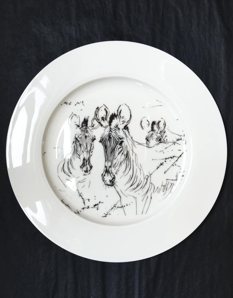 Bone China Dinner Plate - Zebra