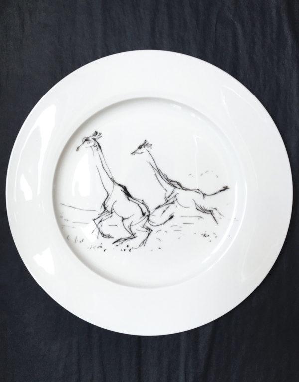 Bone China Dinner Plate - Giraffe