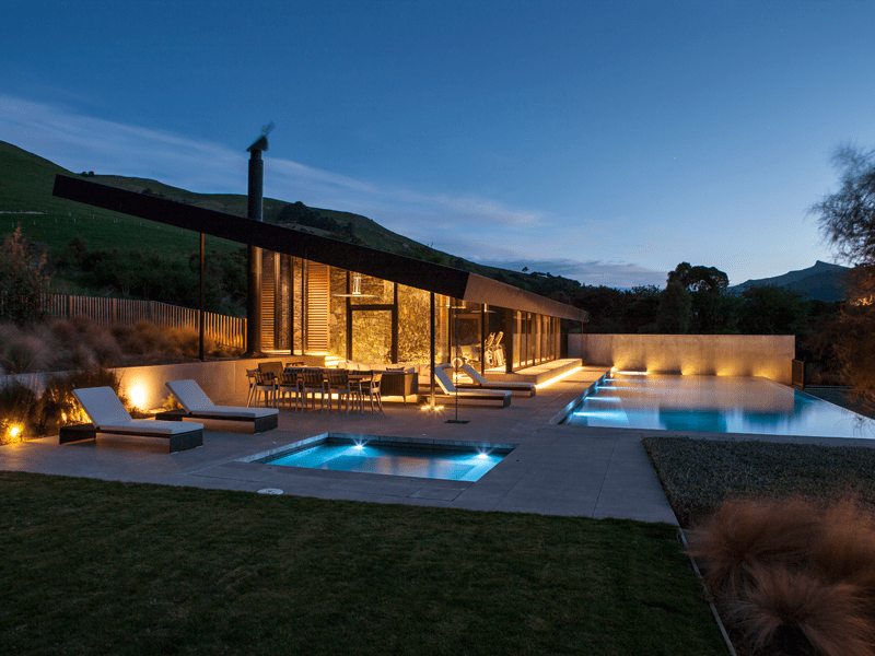 The Homestead - The Pool At Dusk