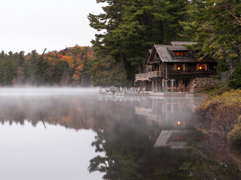 Lake Kora - Boathouse In Fog