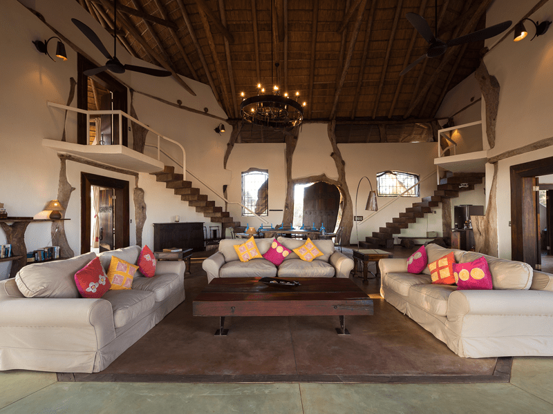 Luangwa Safari House - Living Area