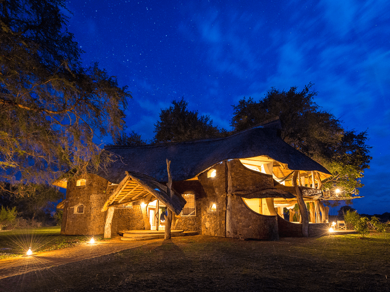 Luangwa Safari House - At Night