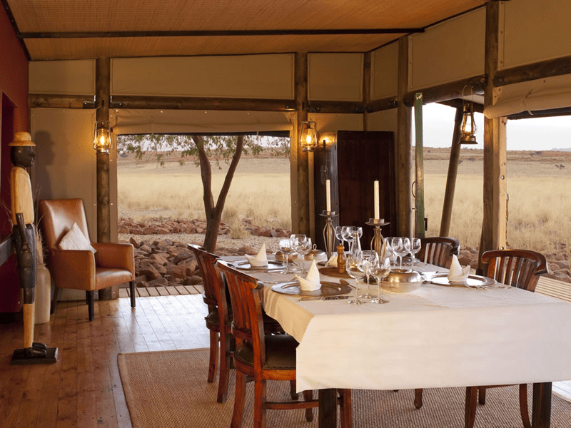 Wolwedans Private Camp - Dining Room