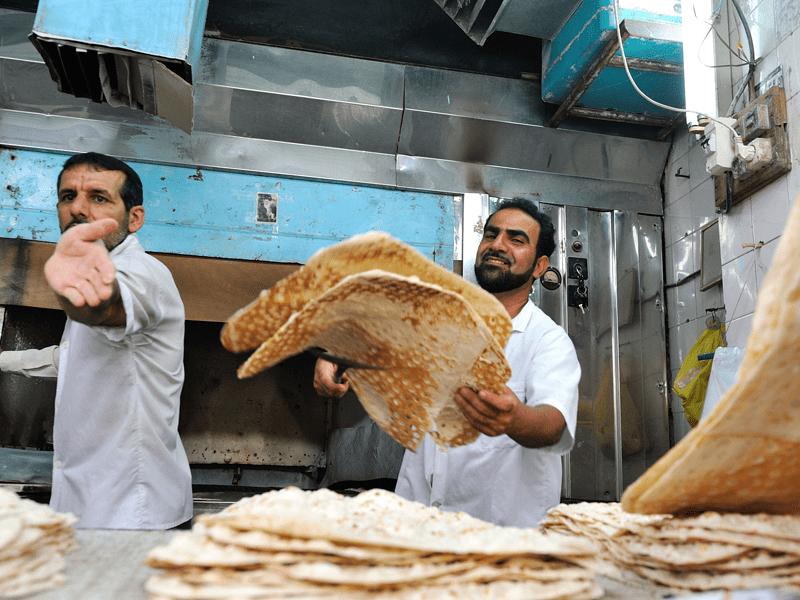Rail Through Iran - Shushtar Bakery