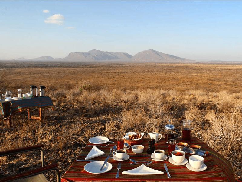 Born Free Safari - Joy's Camp - Bush Breakfast
