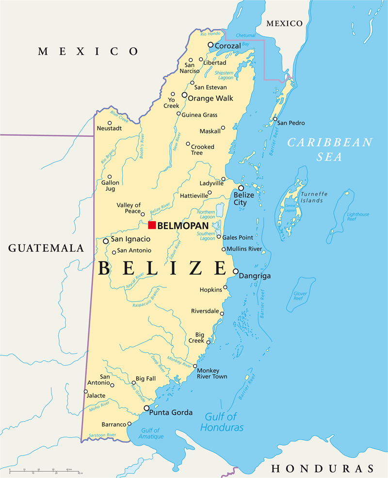 Belize - Map