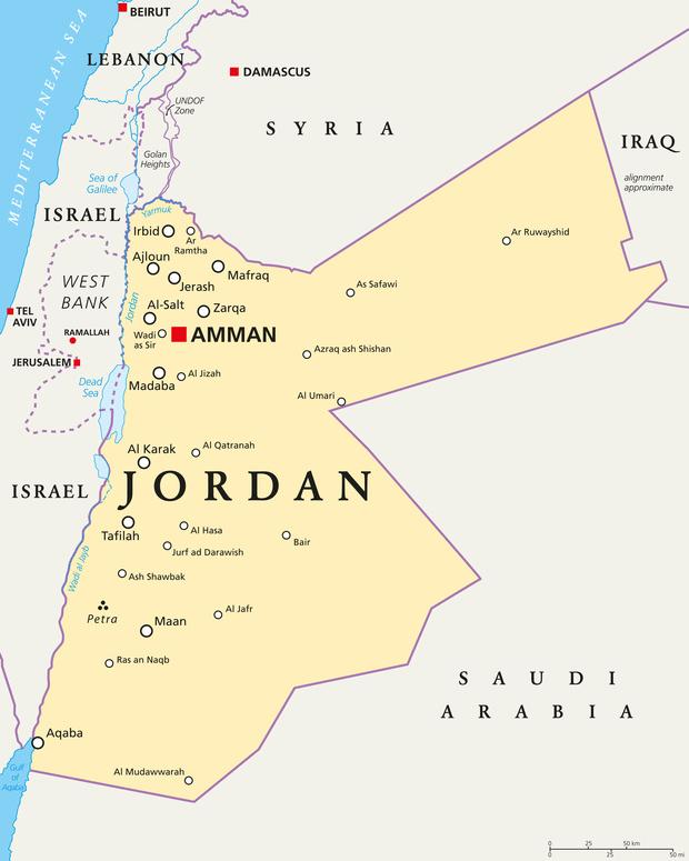 Jordan - Map