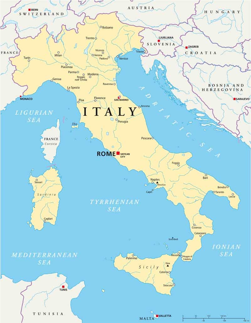 Map Of Italy With Mountains.Travel Italy Tim Best Direct The Best In Specialist Travel