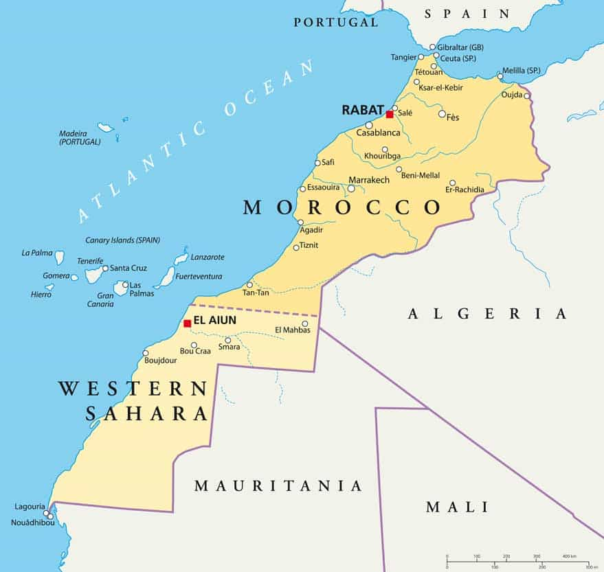 Morocco - Map