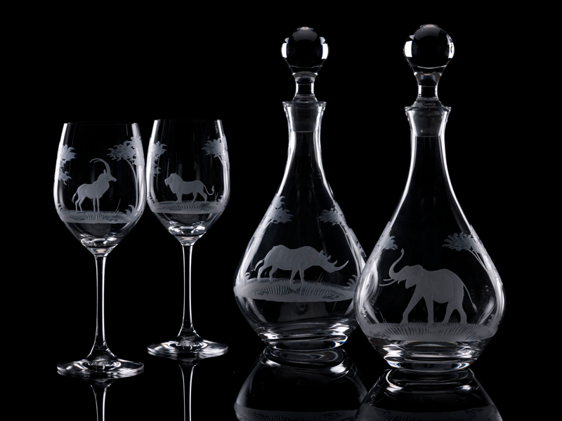 Hand-Engraved Crystal Glassware