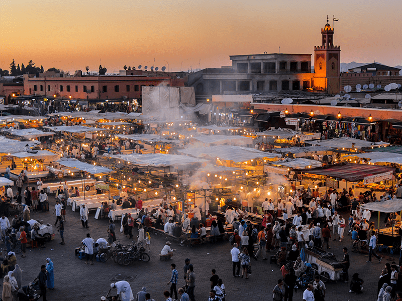 Mountains And Marrakech - Night Market